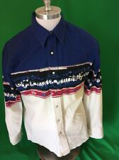 Wrangler Western Rodeo Cowboy Shirt Equestrian Men's Large Long Sleeve