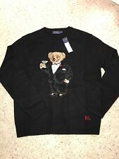 NWT Mens Ralph Lauren Polo Bear Martini Tuxedo Sweater Preppy Sold Out Large L