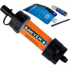 Sawyer Products SP103 Mini Water Filter Orange w/Reusable Squeeze Pouch