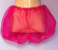 pink organza pants pantaloons french maid sissy adult baby 34- 42 bloomers