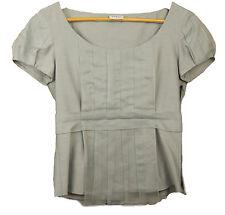AKRIS Punto Baumwolle cotton & Silk trim Blouse top Size 4