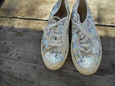 BASKET SUPERGA COLLECTOR T 39 SEQUINS STRASS BEIGE IVOIRE CREME TBE 20€ ACHT IMM