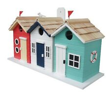 Beach Hut Bird House pine shingled roofs removable back wall Garden feature