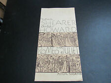 ROMEO AND JULIET 1936 MOVIE PROGRAM NORMA SHEARER LESLIE HOWARD ASTOR THEATRE