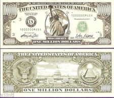 UNITED STATES OF AMERICA ONE MILLION DOLLARS NOVELTY (FANCY) BILL # A