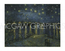 "VAN GOGH VINCENT - STARRY NIGHT OVER THE RHONE - ART PRINT POSTER 11"" X 14""(435"