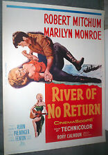 RIVER OF NO RETURN Orig ROLLED 30x40 Movie Poster MARILYN MONROE/ROBERT MITCHUM