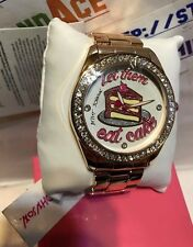 Betsey Johnson Let them eat cake Watch 44MM NEW!  BJ00249-32 only listing eBay!