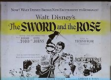 "Walt Disney's ""The Sword and the Rose"", Movie Preview, Magic Lantern Glass Slide"