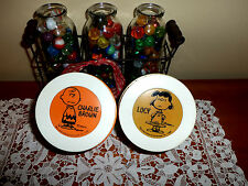 Vintage Pair Peanuts Charlie Brown & Lucy Thermos Insulated Nice and Clean