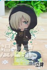Hot YURI ON ICE Cute Yuri Plisetsky Q Decoration Cute Standing Plates Pendant #A
