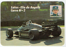 1985 Portugese Pocket Calendar F1 Lotus Team driver Elio de Angelis car #2
