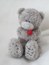 """ME TO YOU 6"""" TEDDY BEAR BEANIE SOFT TOY HOLDING RED ROSE"""
