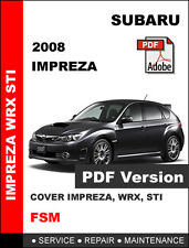 SUBARU 2008 IMPREZA WRX STI ULTIMATE WORKSHOP FACTORY OEM SERVICE REPAIR MANUAL