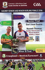 GAA 2016 Galway Senior Hurling Club Final Programme Gort v St. Thomas