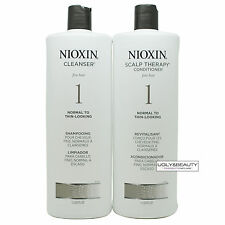 Nioxin System 1 Cleanser & Scalp Therapy 1 L / 33.8  FL OZ Duo Set
