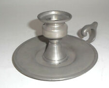 VINTAGE PEWTER CANDLE HOLDER THUMB RING MARKED ON BOTTOM