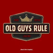 "OLD GUYS RULE "" MAN, MYTH, LEGEND BEACH INDEPENDENCE RED S/S T-SHIRT SIZE XL"