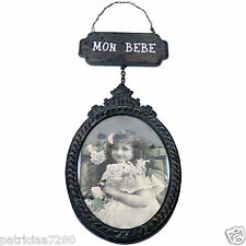 CADRE PORTE PHOTO OVALE EN METAL MON BEBE DECO STYLE ANTIQUE CLEMENTINE CREATION