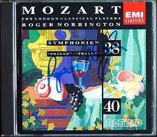Sir Roger Norrington SIGNED Mozart Symphony No, 38 & 40 EMI cd sinfonie