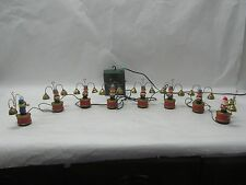 MR CHRISTMAS SANTA'S MARCHING BAND CHRISTMAS DECORATION 8 BELL RINGERS 1991