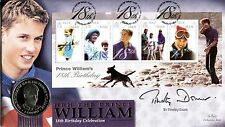Benham SIGNED Coin Cover 2000 Prince William 18th Birthday SIGNED TIMOTHY DAUNT