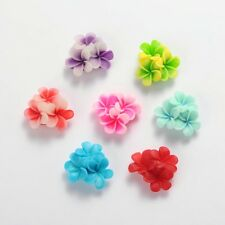200 pcs Flatback Resin Flower Cabochons Mixed Color 21x21x10mm Jewelry Making