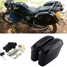 New Black Hard Saddle Bags Trunk Saddlebags Luggage Motorcycle for Harley US