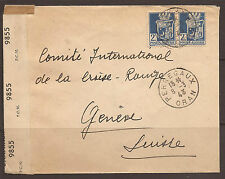 ALGERIA / FRANCE. 1943. CENSORED COVER. BRITISH CENSORS TAPE AND CIRCULAR A.x. A