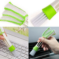 New 1Pcs Car Double Head Brush Broom Duster Dash Board Keyboard Cleaning Random