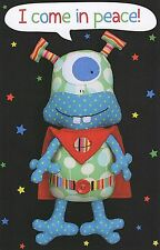 I Come In Peace - Sewing Craft PATTERN - Robot Soft Toy Felt Rag Doll Bear