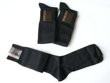 Roberto Cavalli Mens Black Sock size XL 3 Pairs Pack Long Socks Gift For Him NIB