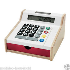 IKEA Duktig Wooden Toy Shop Till Cash Register With Play Money Credit Cards-B111