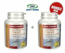 SimplySupplements Magnesium 375mg with Vitamin B Complex 120+120Tabs Bundle Deal
