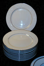 NORITAKE IVORY CHINA JAPAN 7550 MARSELLE DINNERWARE SET 12SALAD PLATES PLATINUM