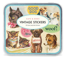 Cavallini & Co. Vintage Cats & Dogs Decorative Label Sticker Set