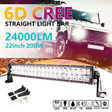 "CREE 6D 200W 22"" Inch Flood Spot Combo LED Light Bar For Offroad Truck Lamp 20''"