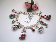 "Brighton ""HOLLY CHRISTMAS"" Charm Bracelet (MSR$98) NWT/Tin"