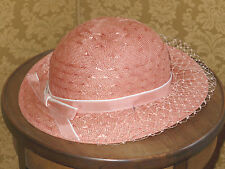 Pretty Peach vintage 30s/ 40s Downton Style Veiled Hat Mint Condition!
