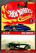 HOT WHEELS ~ CLASSICS #2 ~ 1958 CORVETTE ~ GREEN ~ 1/64