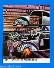 EUROPA - Imperia 1965 - Figurina-Sticker n. 181 - CATENA DI MONTAGGIO -Rec