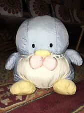 "Vintage Tuxedo Sam Nylon Sanrio Large 15""  Plush Penguin  W/ Tag"