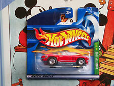 Hot Wheels CORVETTE 1965 chevrolet rouge sc 2001 SUPER TREASURE HUNT th$ - S127