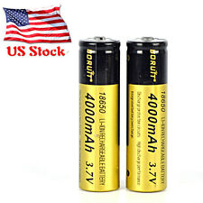 2PC 3.7V 18650 4000mAh Li-ion Rechargeable Battery For Flashlight Torch Headlamp