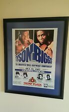 1987 Mike Tyson vs. Tyrell Biggs On Site Boxing Poster 28x22 FRAMED & Program
