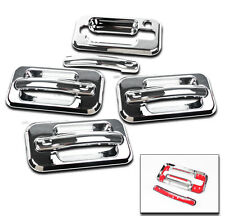 2003-2009 HUMMER H2 SUV SUT CHROME DOOR HANDLE COVERS TRIM BEZEL W/1 KEYHOLE SET