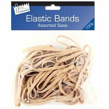 Strong Elastic Rubber Bands Assorted Sizes100g 062259