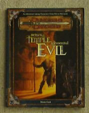 dungeons & dragons Return to the Temple of Elemental Evil    book module