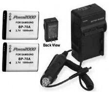 2 Batteries + Charger for Samsung EC-ST95ZZBPSUS ST61 ST60 ST30 EC-ES80ZZBPBUS