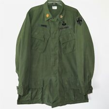 VINTAGE 1966 VIETNAM US ARMY JUNGLE JACKET MEDIUM LONG PATCHE OFFICER MAJOR MACV